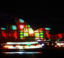 Lights On Opera House by Ann Barnes