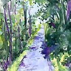 County Clare, Ireland - Treelined Drive by Genevieve  Cseh