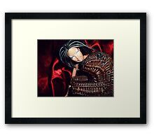 Meanwhile... Marbie And Wicker Sqrl At The Black Lodge Framed Print