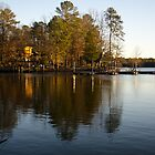 Sunset on the Bond Lake boat dock by DBGuinn