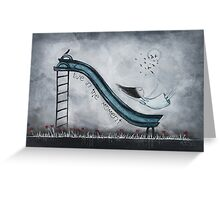 Live in the moment Greeting Card