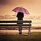 Umbrella Portrait with Rain Drops by Cubagallery