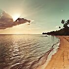 Pacific Island Sunset - Rarotonga Landscape by Cubagallery