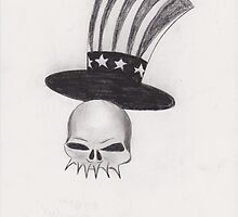 Patriotic Skull by signaturelaurel