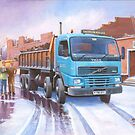 Volvo tipper by Mike Jeffries