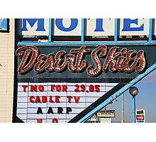 Route 66 - Desert Skies Motel Photographic Print