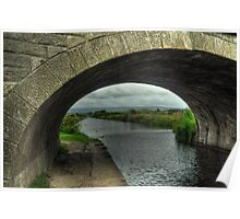 Bridge over The Lancaster Canal At Glasson Poster
