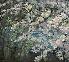Blossoming River by Karen Ilari