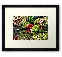 The Little Red Bridge Framed Print