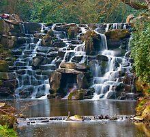 Silky Cascade at Virginia Waters by DonDavisUK