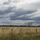 The storm approaches over the fields by stormypeace