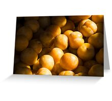 Bums. I mean plums! Greeting Card
