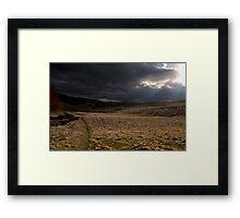 Moody Scottish Landscape. Framed Print
