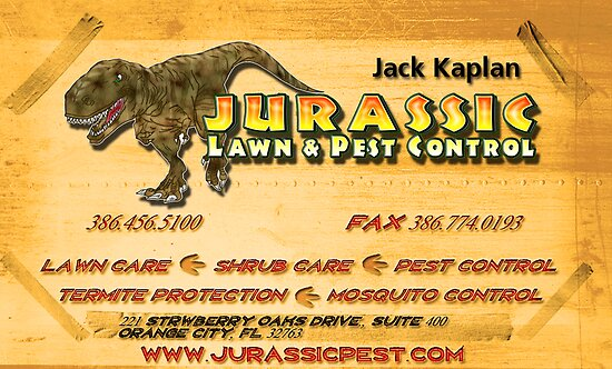 Jurassic Business Card by Austin Kaplan