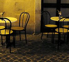 A café in Rome by night by Tanja Katharina Klesse