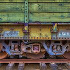 Green Car Axle (Perris, California) by Brendon Perkins