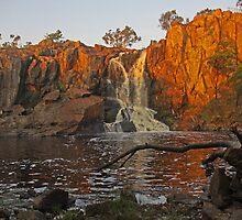 Nigretta Falls at Sunset by PABarrattArt