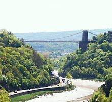 The Clifton Suspension Bridge by Dawn B Davies-McIninch