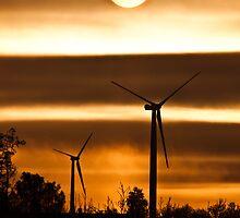 Windmills at sunset by Nnebr