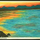 Belongil Beach Sunset, Byron Bay by mmpaintings