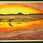 Sunset at the Pass, Byron Bay by mmpaintings