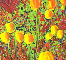 london tulips by mmpaintings