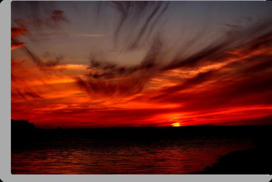 SKY FIRE SUNSET by RoseMarie747