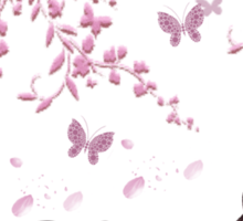 Japan Earthquake Tsunami Relief Cherry Blossoms Sticker