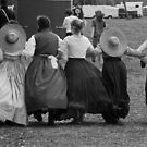Hoop skirts BW by Larry  Grayam