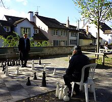 Playing Chess in Zurich by Charmiene Maxwell-batten