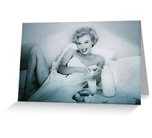 BREAKFAST WITH MARILYN 5 Greeting Card