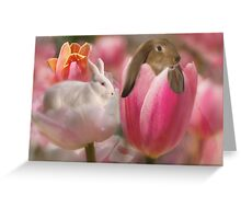 Bunny Blossoms Greeting Card