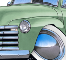 Chevy 3100 Pick-Up Pastel Green Sticker