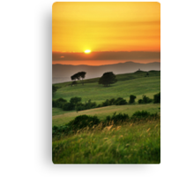 Cleeve Common Sunset, The Cotswolds, England Canvas Print