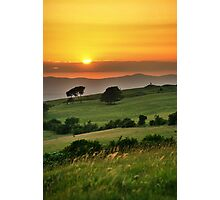 Cleeve Common Sunset, The Cotswolds, England Photographic Print