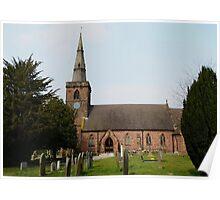 Upton Parish Church, Chester UK Poster