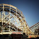 The Coney Island Cyclone Roller Coaster  by Vivienne Gucwa