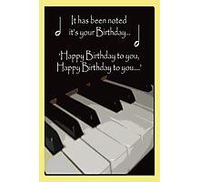 Happy Birthday - Piano card Photographic Print