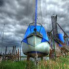 Grounded Yacht - In Skippool Creek, Blackpool by Victoria limerick