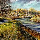 Pleine Aire ,On the River at Piddinghoe by LorusMaver