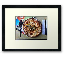 Pizza Il Greco Framed Print