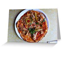 Pizza Verano Aves Greeting Card