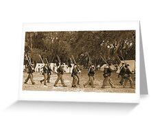 Returning from battle in sepia Greeting Card