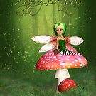 Fairy Birthday Card - Woodland Fairy Happy Birthday by Moonlake