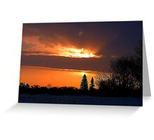 My Water Sunrise ! Greeting Card