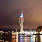 Spinnaker Tower at Night by Phillip Hardy