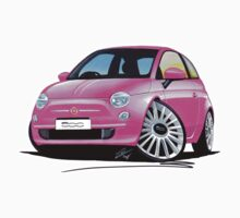 New Fiat 500 Pink by Richard Yeomans