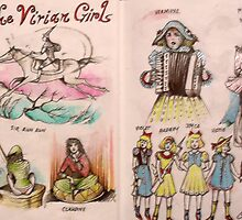 The Vivian Girls meet C.S Lewis & Carlo Collodi  by John Dicandia  ( JinnDoW )