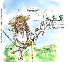 Jack Sparrow In Pirates/Caribbean by Londons Times Cartoons by Rick  London