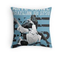 ARTE SUAVE RETRO JIU JITSU POSTER Throw Pillow